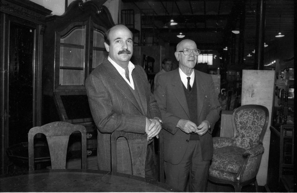 """Héctor """"Pepe"""" Bavastro (hijo) y Hector Bavastro Guirnaldo (padre)."""