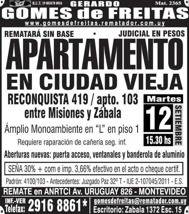 Gerardo Gomes Ciudad Vieja