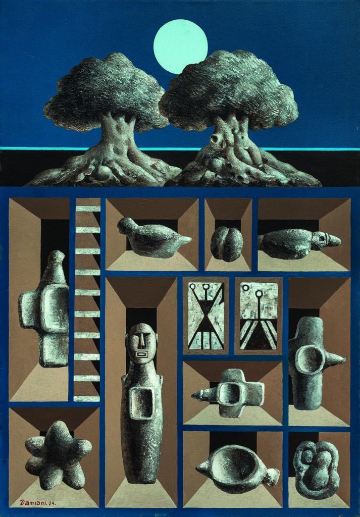 Jorge Damiani Arcano óleo s/tela 100 x70 cm.