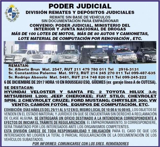 REMATE OFICIAL DE VEHÍCULOS
