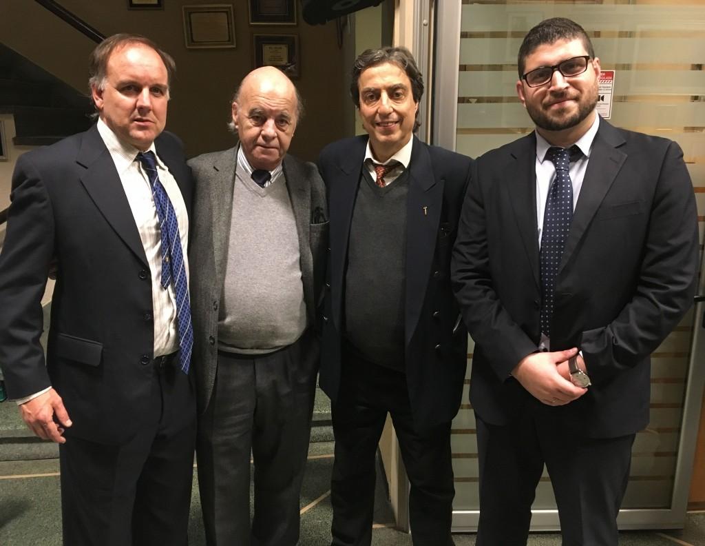 Pablo Ponce de León, Dr. Andrés Mora Pastorino, Pablo Borsari y Federico Rocha