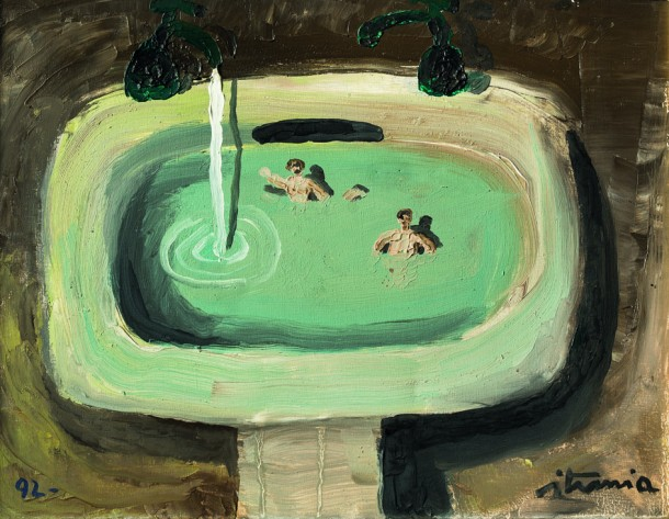"""Ignacio Iturria """"Pileta"""" óleo s/tela 27 x 35 cm."""