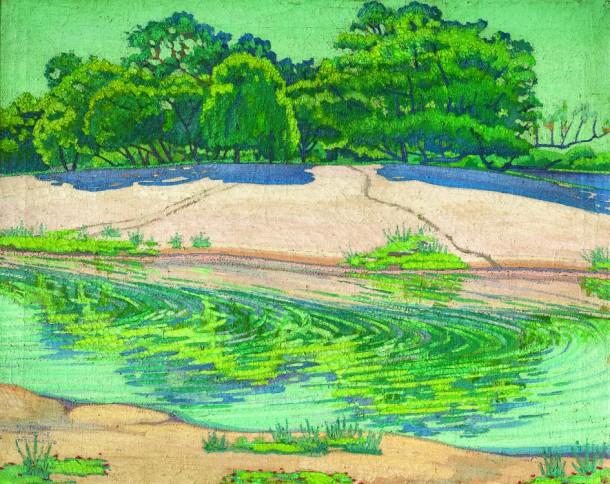 """Andrés Etchebarne Bidart """"Dunas del Río Negro"""" óleo sobre tela 80 x 100 cm."""