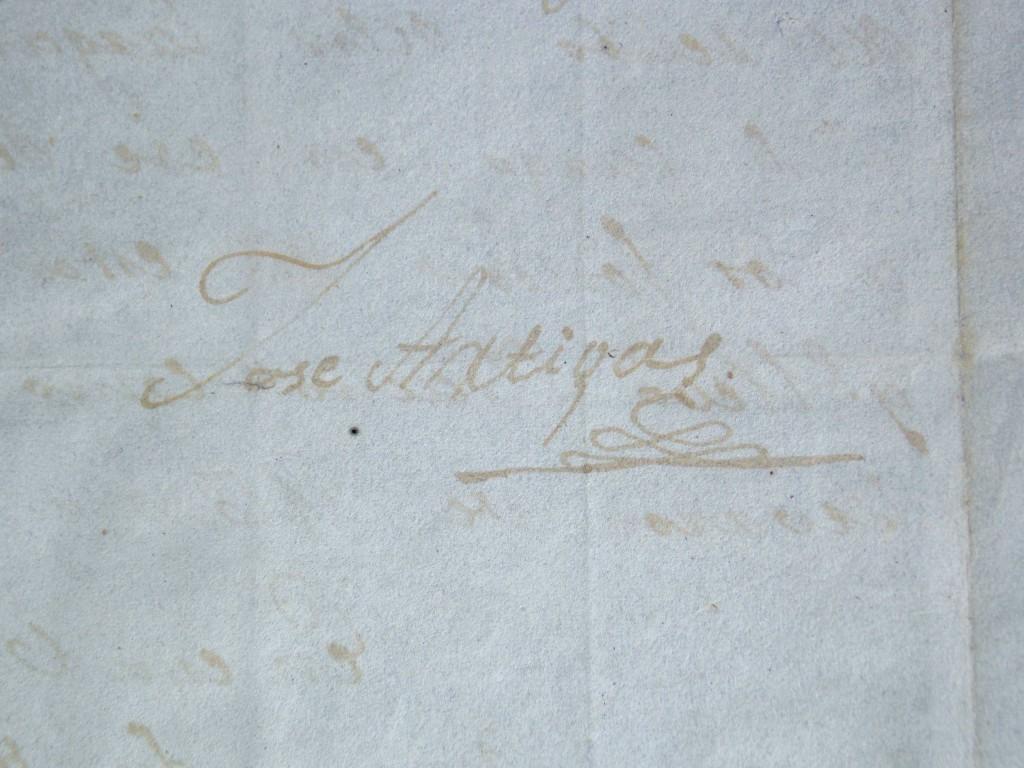 Histórico documento manuscrito enviado por Don José Gervasio Artigas, el 29 de junio de 1817 desde Purificacion a Buenos Aires, al comandante Ramón dela Piedra.