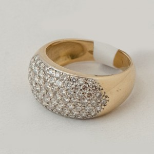 Anillo oro 18k con brillantes 2.50 ct.
