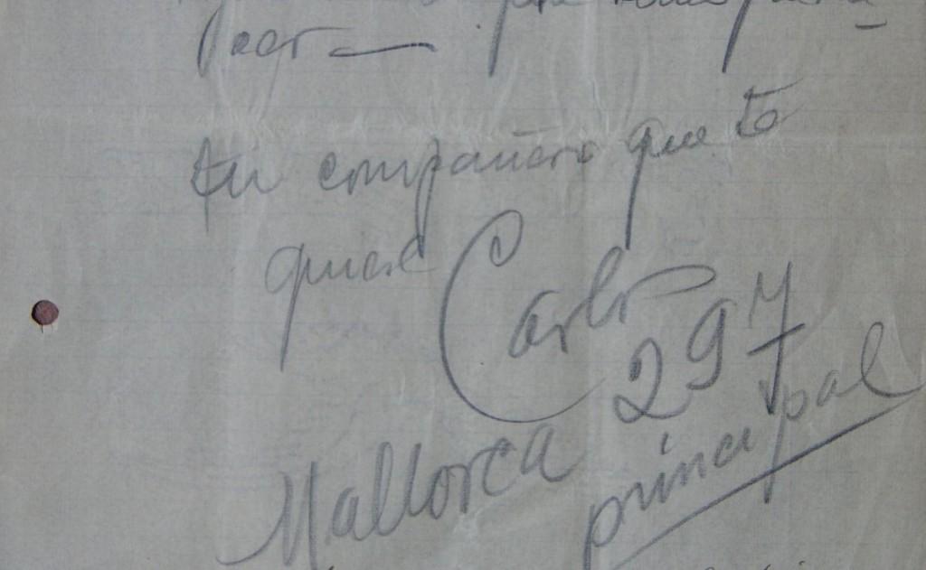 Fragmento y firma de una de las cartas de Carlos Gardel