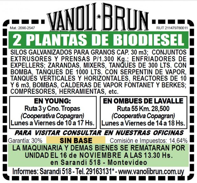 Vanoli Brun Biodiesel