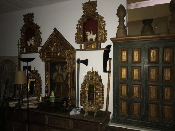 Excelente conjunto de Pinturas Mobiliario Colonial y Renacentista Luis XVI
