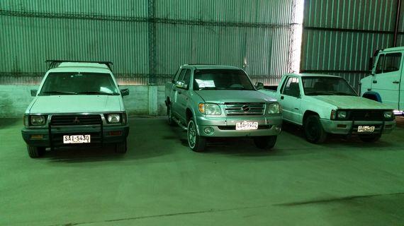 3 Camionetas: 2 Mitsubishi L200, otra D/cabina Zxauto – Gran Tiger y más