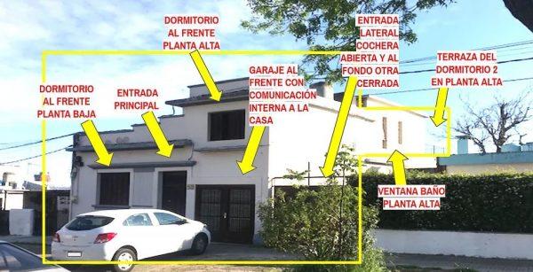 Gran casa de dos plantas 210 m2 edificados con fondo y garage
