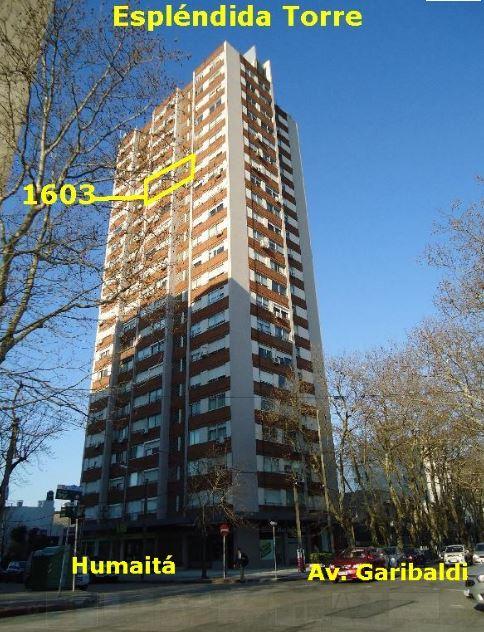 La Blanqueada: Torre Génesis, apto de 1 dormitorio