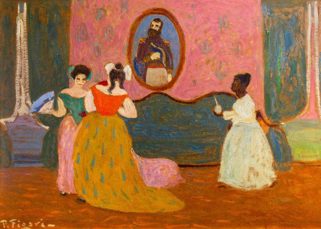 Selecta pintura en el salón de Tazart