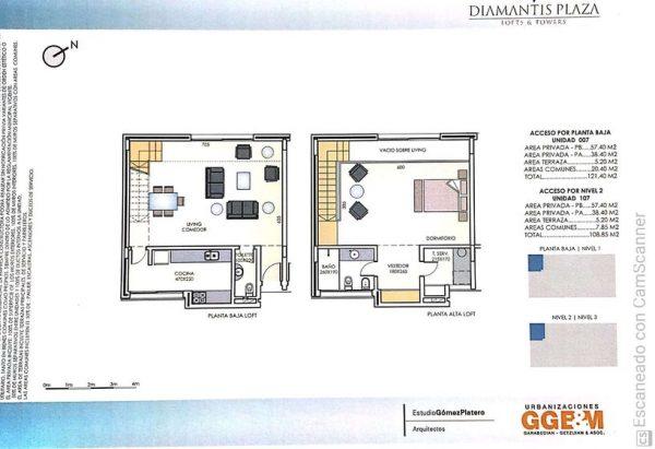 Complejo Diamantis Plaza. 5 Unidades Lofts y 3 Garajes