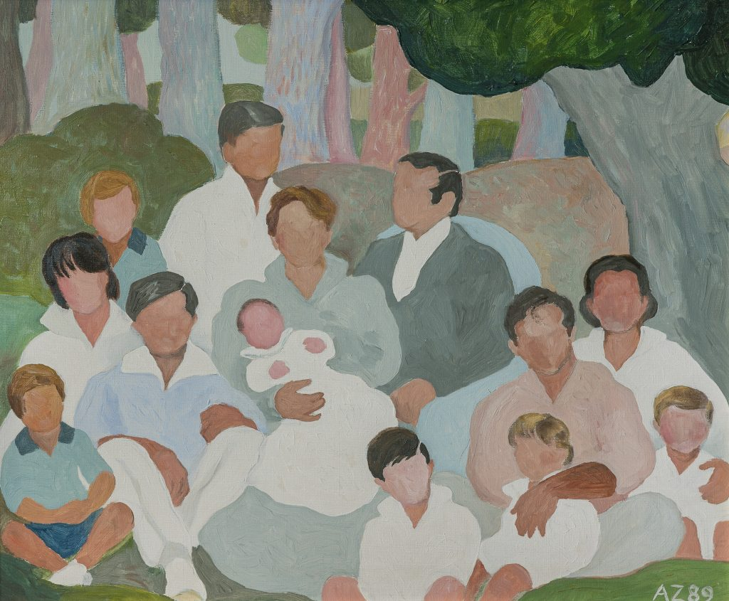 "Alfredo Zorrilla de San Martín ""Familia"" óleo-sobre tela 43x51 cm. Lote 47.jpg"